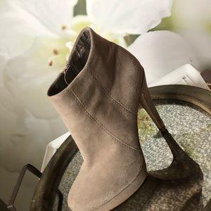 Shoemint/Grey Swede brown/tan Heeled Booties